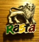 Rasta Lion Pin Badge